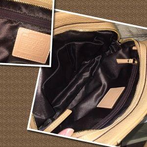 Coach Bags - COACH Light Camel Pebbled Leather HAMILTON Satchel